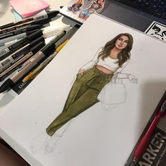 Likes, 36 Comments - Natalia Madej (Natalia Madej Chrzanowska) on Instagra. Fashion Design Sketchbook, Fashion Design Drawings, Fashion Sketches, Dress Illustration, Fashion Illustration Dresses, Fashion Illustration Tutorial, Fashion Art, Fashion Models, Fashion Drawing Dresses