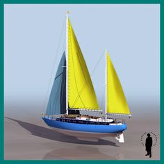 MOON LIGHT YACHT SAILBOAT 3D Model .max