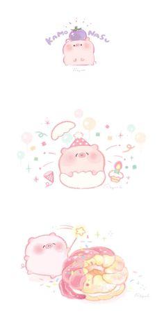 Kawaii Pig, Kawaii Chibi, Pig Wallpaper, Kawaii Wallpaper, Cute Animal Drawings Kawaii, Cute Drawings, Nostalgia Art, Kawaii Illustration, Anime Girl Neko