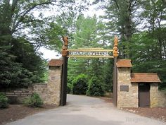 The T. Dawson Brown Gateway at Camp Yawgoog on opening day (June 30) in 2013.  Rockville, Hopkinton, Rhode Island (RI).  Image by David R. Brierley.