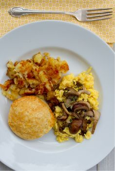 Mushroom Scramble recipe. Perfect for breakfast!