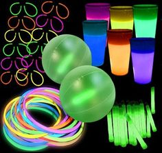 Glow Party Pack | Glow in the Dark Party Pack | 12 Person | Glowsource - After Party - glow beach balls, cups, sticks, etc.
