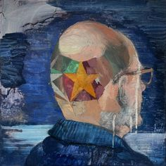 """Saatchi Art is pleased to offer the painting, """"""""Self-portrait 3 (Tonsure, Marcel Duchamp)"""","""" by Davis Lisboa, available for purchase at $1060 USD. Original Painting: Oil on Canvas. Size is 19.7 H x 19.7 W x 1.4 in. Marcel Duchamp, Figure Painting, Oil Painting On Canvas, Museum Of Contemporary Art, Art Museum, Saatchi Art, Art Projects, Original Paintings, Portrait"""