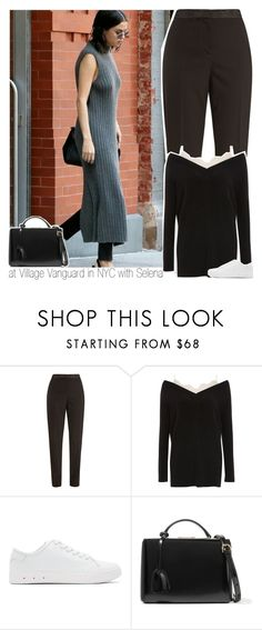 """""""at Village Vanguard in NYC with Selena"""" by hazzdimples ❤ liked on Polyvore featuring Oscar de la Renta, Topshop, rag & bone and Mark Cross"""