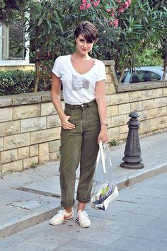Nil Erturk »  ZadigVoltaire T-shirt Vintage Trousers Nike Shoes Oysho Bag