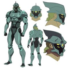 More old design work. Atlantean Soldiers from Justice League Flashpoint, 2012…