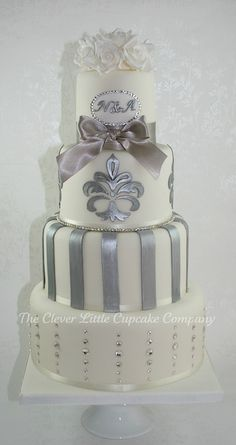 Swarovski Wedding Cake by The Clever Little Cupcake Company (Amanda), via Flickr