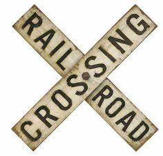 DIY Vintage Railroad Sign - Knick of Time