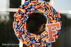 Crafts / She's {kinda} Crafty: Football {Wreath}! (wde)