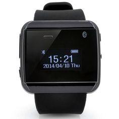 Bluetooth 3.0 Smart Watch - Make + Answer Calls, Sync Phonebook, Call Records, Bluetooth Music, IP 67 Waterproof