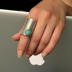 Boho Ring-Bohemian Ring-Gypsy Tribal Ring-Big Large Ring-Unique Ring-Stone Ring-Silver Rings-Hippie Rings-Rustic Boho Rings-Boho Tribal by Trinketmart on Etsy