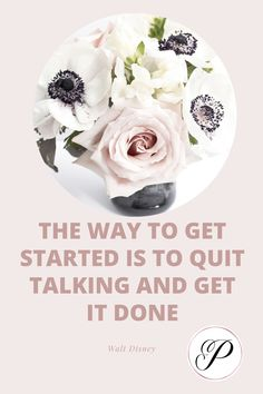 The way to get started is to stop talking about it and get it done productivity tips | productivity tips time management | productivity tips for moms | productivity tips life hacks #holistichealthymindful #holistichealthyliving #reikivibes #reikilife Work Productivity, Time Management Skills, How To Stop Procrastinating, Achieve Success, Getting Things Done, Organize, Life Hacks, Women, Successful People