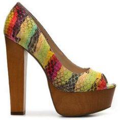 I just added this to my closet on Poshmark: Zigi Soho Rainbow Snakeskin Platform Pump. $25 #heels #fashion