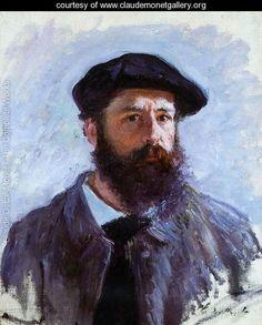 Self Portrait With A Beret - Claude Oscar Monet - www.claudemonetgallery.org