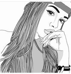 Pictures of outline drawings of famous people - Tumblr Hipster, Tumblr Bff, Tumblr Girls, Hipster Art, Tumblr Outline, Outline Art, Outline Drawings, Cool Drawings, Tumblr Girl Drawing