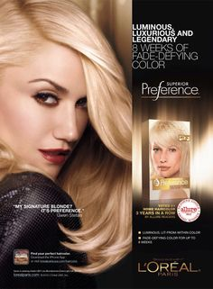 L'Oreal Paris HairCare Advertising with Gwen Stefani