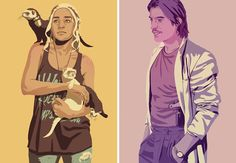 Daenerys and Jamie - Game of Thrones as characters 80s Characters, Game Of Thrones Characters, Fictional Characters, Jaime Lannister, Breaking Bad, Adventure Time, Vector Art, Jon Snow, Style Icons