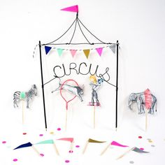 Circus Cake Toppers by WonderfulCollective on Etsy