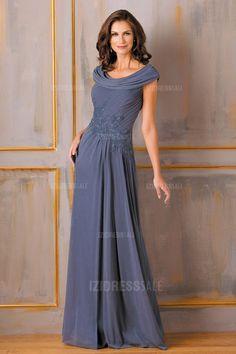 A-Line/Princess Cowl Floor-length Chiffon Mother Of The Bride Dress