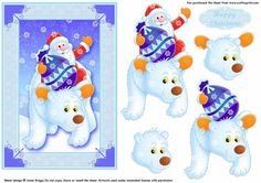 HERE COMES SANTA step by step decoupage on Craftsuprint designed by Janet Briggs - Lovely Christmas card front with step by step elements, featuring Santa