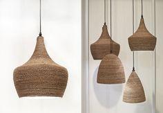 Daniella Witte: RATTAN LAMPS-brown rope!