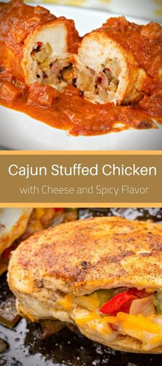 Cajun Stuffed Chicken breasts stuffed with bell peppers, mushrooms, and onions and zesty pepperjack cheese. Stuffed Bell Pepers, Stuffed Peppers, Cajun Seasoning, Chicken Seasoning, Chicken Breast Recipes Healthy, Healthy Recipes, Stuffed Chicken, Chicken Breasts, Cooking Time
