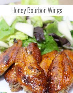 Honey Bourbon Wings Recipe   UrbanBlissLife.com