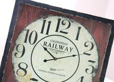 *LaMaison* Duży Zegar Railway Station Retro Vintage