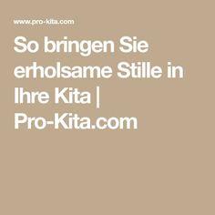 So bringen Sie erholsame Stille in Ihre Kita   Pro-Kita.com