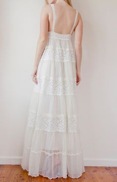 The Grace Dress French lace Bohemian Vintage style wedding dress Vintage Style Wedding Dresses, Vintage Gowns, Flower Girl Dresses, Lace Dresses, Dress Lace, Boho Dress, Baby Doll Style Dress, Grace Loves Lace, Western Dresses