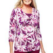 Lark Lane® Printed Stretch-Jersey Top