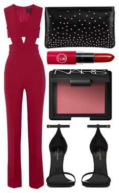 """street style"" by sisaez ❤ liked on Polyvore featuring Cushnie Et Ochs, Yves Saint Laurent, NARS Cosmetics and Christian Louboutin"