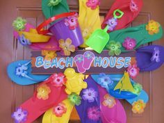 Flip Flop Wreath with Letter