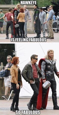 Hawkeye is so fabulous!