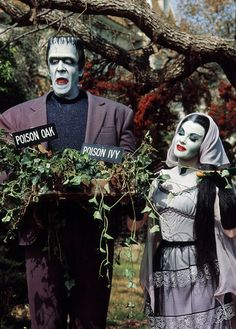 "Fred Gwynne and Yvonne De Carlo as Herman and Lily Munster in ""The Munsters"" - 1964-1966"