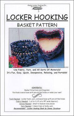 Locker Hooking basket pattern