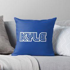 'Kyle Gamer Player' Throw Pillow by el-patron Gamer Names, Iroquois, Designer Throw Pillows, Dodgers, Pillow Design, Sell Your Art, Chiffon Tops, Printed, Awesome