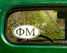 Phi Mu Decal Fraternity Sticker Greek by StickerAndDecalMafia