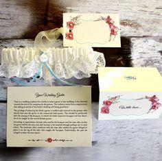 personalised wedding garter by 2by2 creative | notonthehighstreet.com