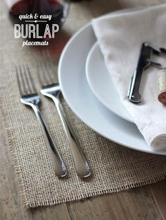 DIY Placemats : DIY Quick and Easy Burlap Placemats