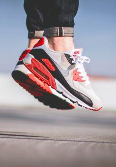 new arrival 02beb 118eb Nike Air Max 90 Infrared Nike Running Shoes Women, Women Nike, Nike