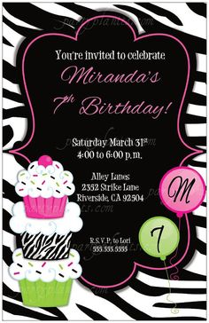 Printable Zebra Invitations For Birthdays Free