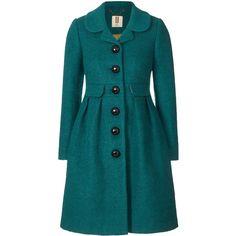 Orla Kiely Boucle Coat ($555) ❤ liked on Polyvore