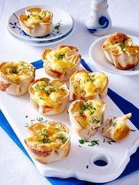 Toastmuffins mit Käse-Schinken-Füllung Mehr