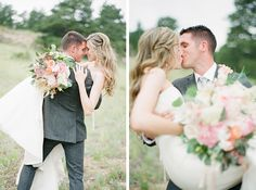 An outdoor blush pink wedding by Connie Whitlock Photography - Wedding Party