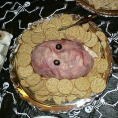 119 Creepy Halloween Food Ideas.  The one pictured is really creepy, but there are some good ones for little kids too.