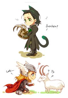 So cute Loki and Thor