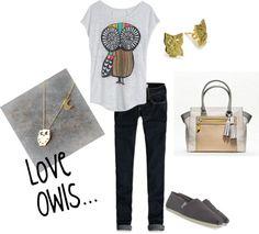 """Owl Fun"" by nicholeswartz on Polyvore"