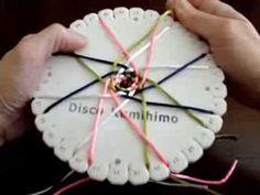 KUMIHIMO XXIX:CORDÓN HUECO TRENZADO EN CESTA CON 16 HILOS - YouTube