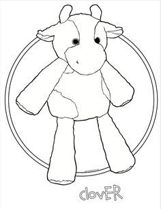 clover the cow scentsy buddy coloring page scentsy color clover cow scented iamwickless